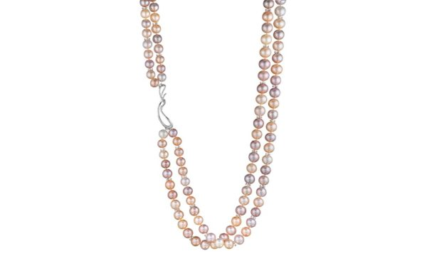 Night at the Opera Double-strand Pink Pearl Necklace