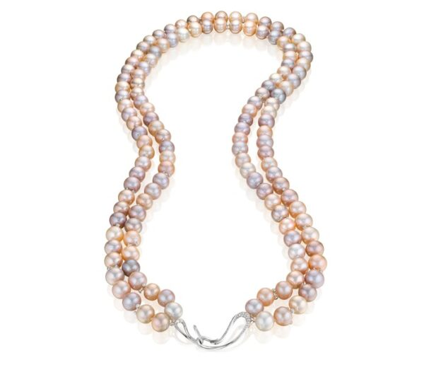 Night at the Opera Double Strand Pink Pearl Necklace