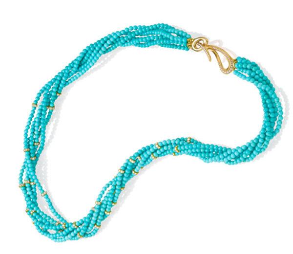 Turquoise Enchantment Multi-strand Turquoise Necklace