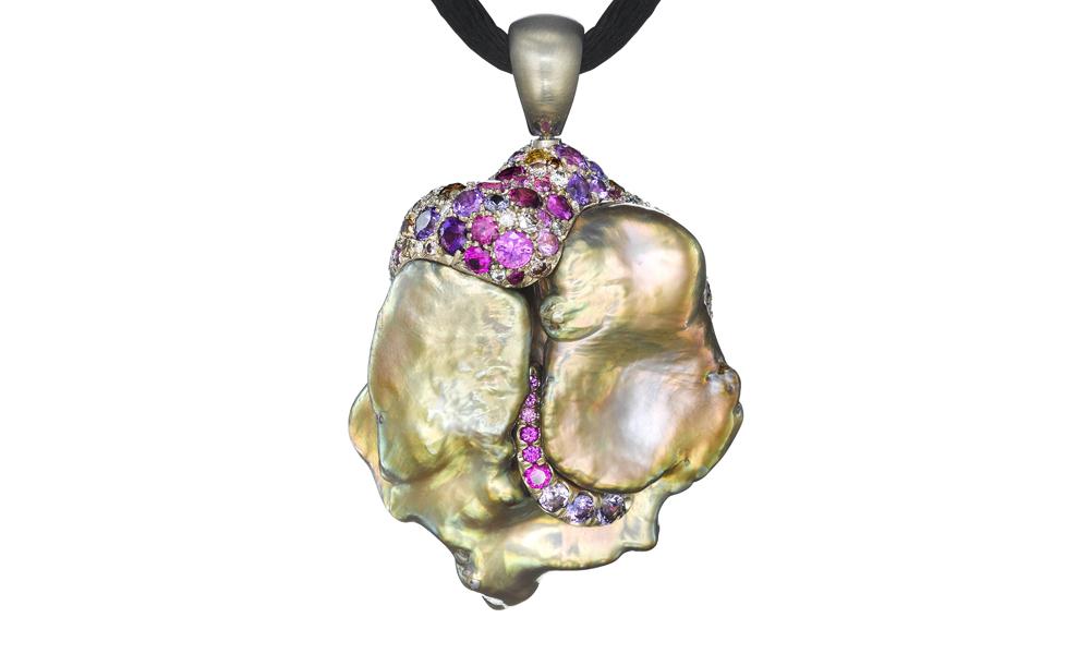 Octopus Radiant Pearl Pendant