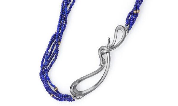 Fire Opal Necklace Clasp Detail 2