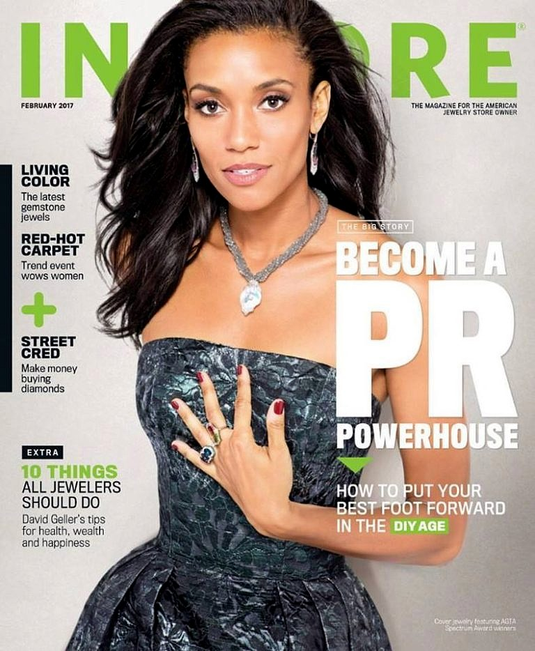 Instore Magazine Naomi Sarna Pearl Labrodorite Necklace