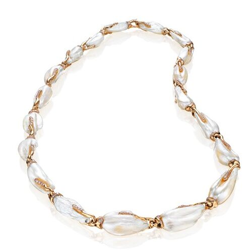 Egret Pearl Necklace