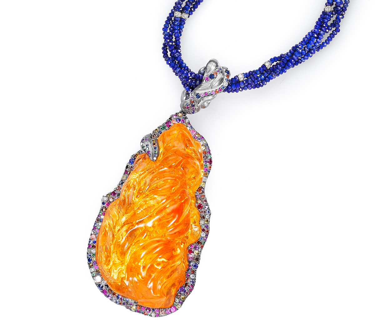 Fire Opal Diamond Sapphire Amethysts Lapis