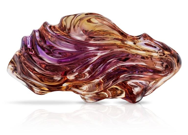 Purple Gold Ametrine Carving