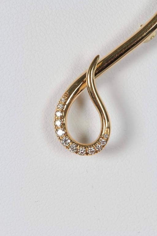 Citrine Diamond Gold Brooch Closeup Diamond
