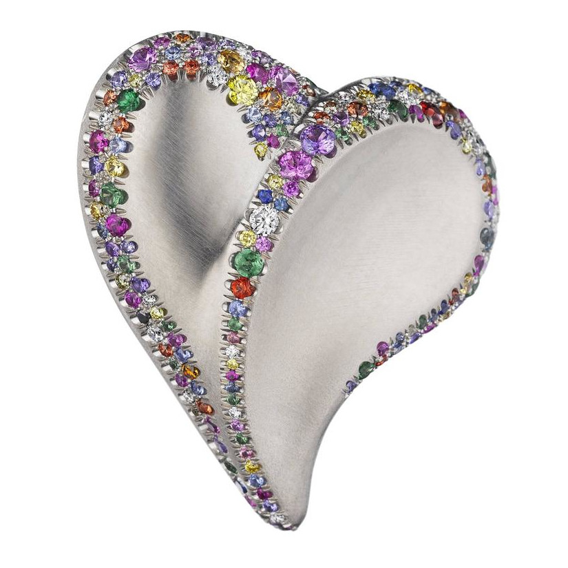 Confetti Heart Ring