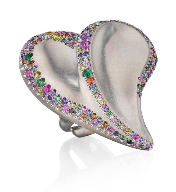 Confetti Heart Ring WJA Gem Diva Award Winner