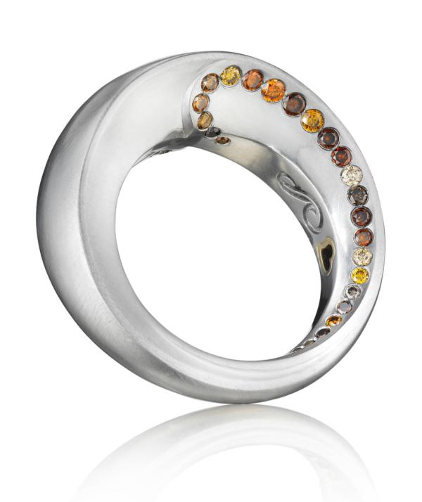 Diamond Platium Ring Side   Lovers' Rings