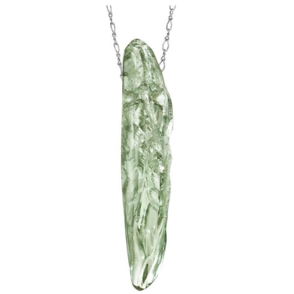 Green Amethyst Gold Pendant Main