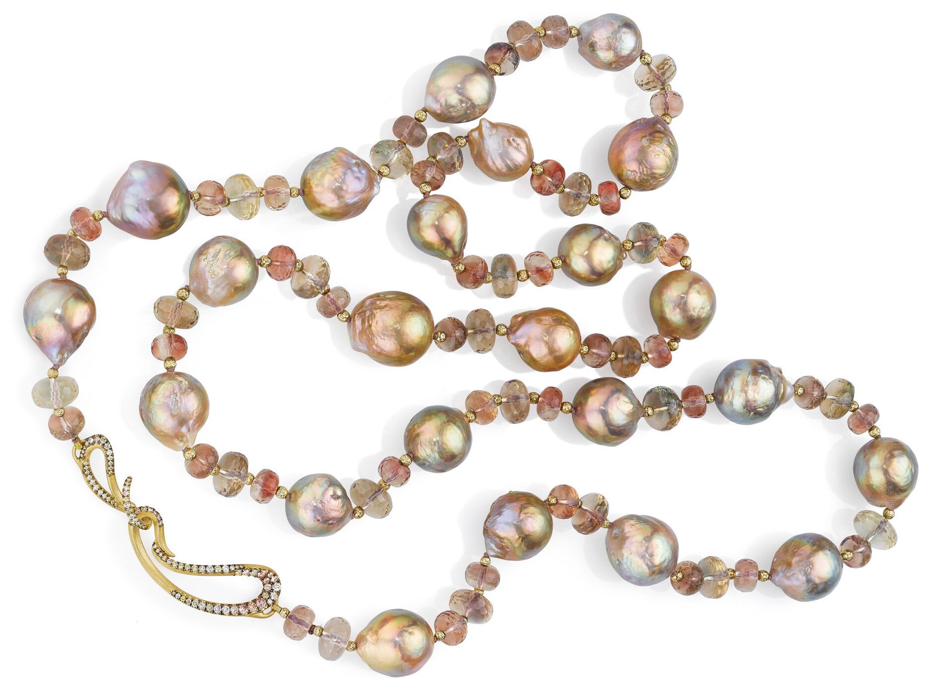 Lady of the Lake Pearl Sunstone Necklace