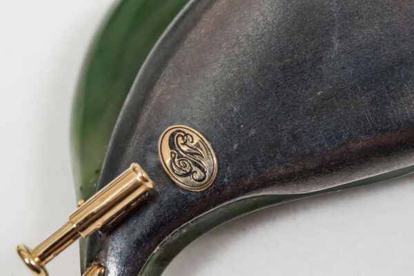 Nephrite Jade Diamond Silver Gold Brooch Logo | Leafy Garden Spring Brooch