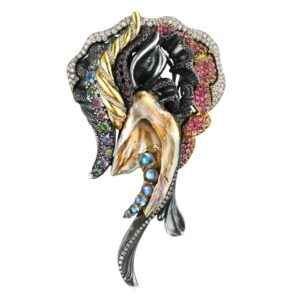 Queen of the Sea Brooch Front