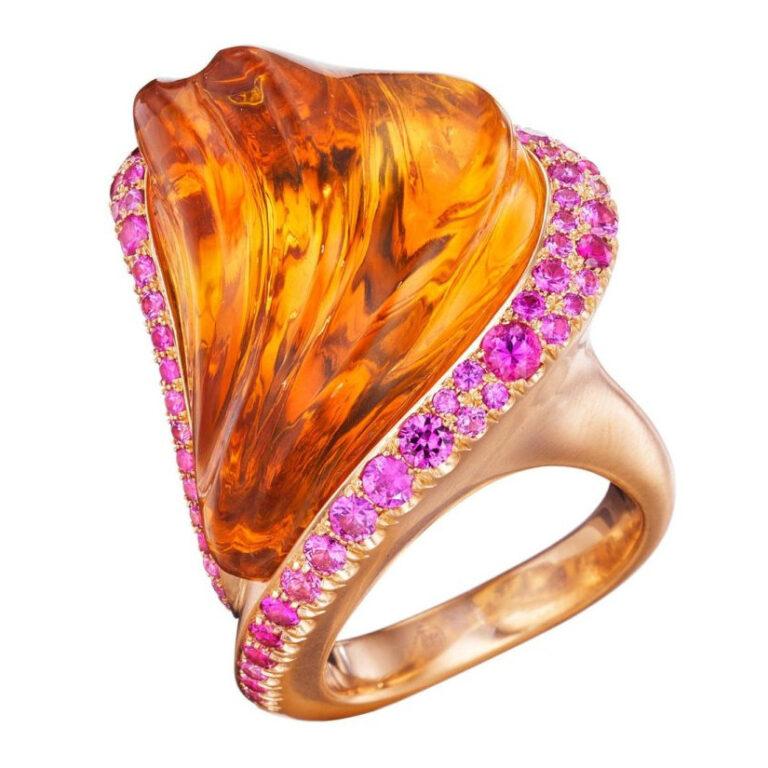 Solar Flare Citrine Ring