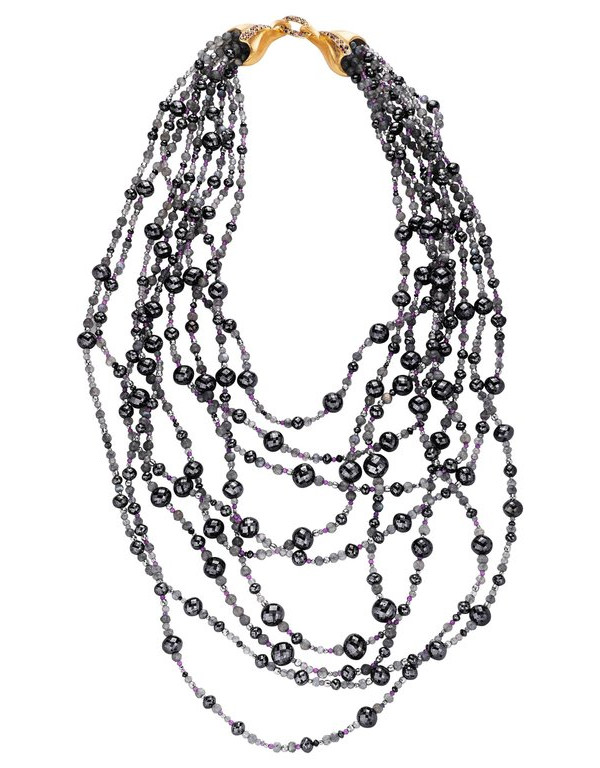 Starry Night Black Diamond Necklace