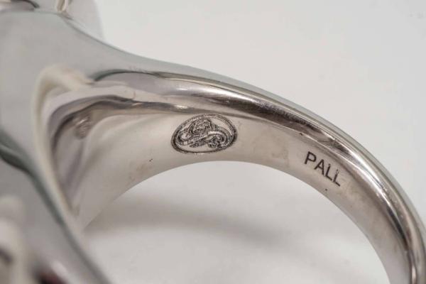 Topaz Diamond Palladium Ring Logo | Madagascar Moon Ring