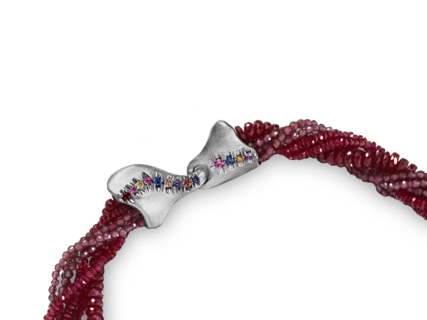 The Contessa Ruby and Pearl Necklace Clasp