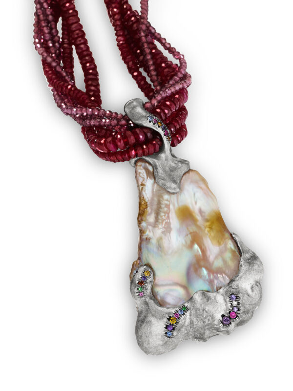 The Contessa Ruby and Pearl Necklace