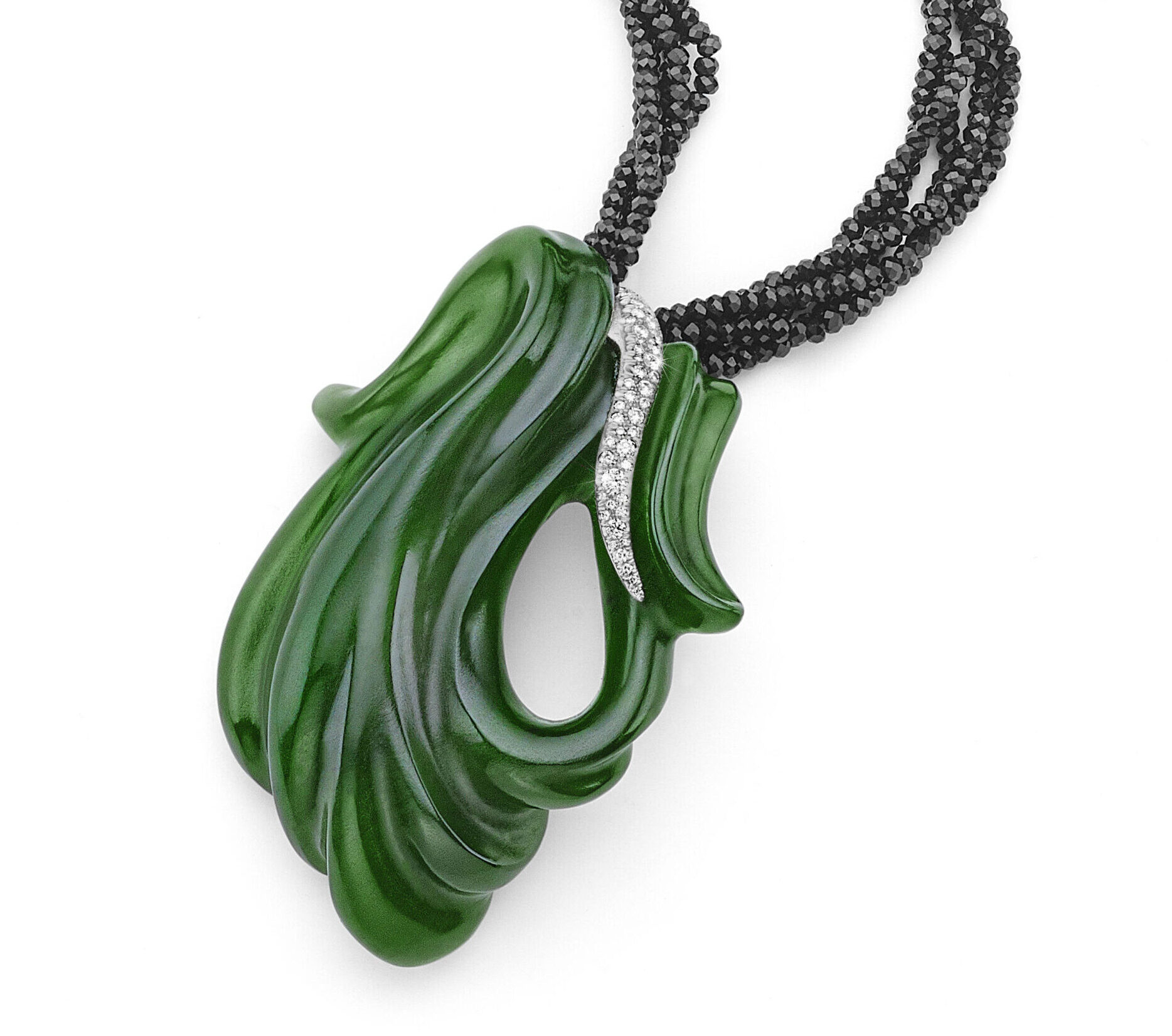 Mossy River Jade Necklace Pendant Awarded