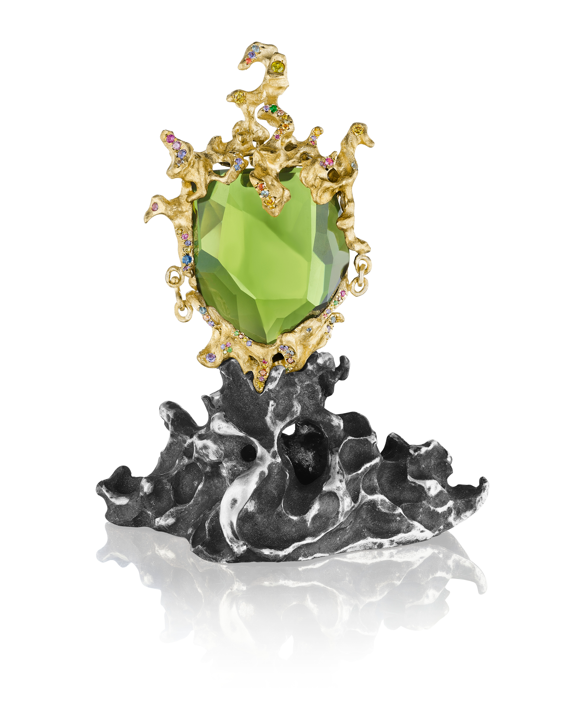 Green Genie Peridot Pendant and Sculpture