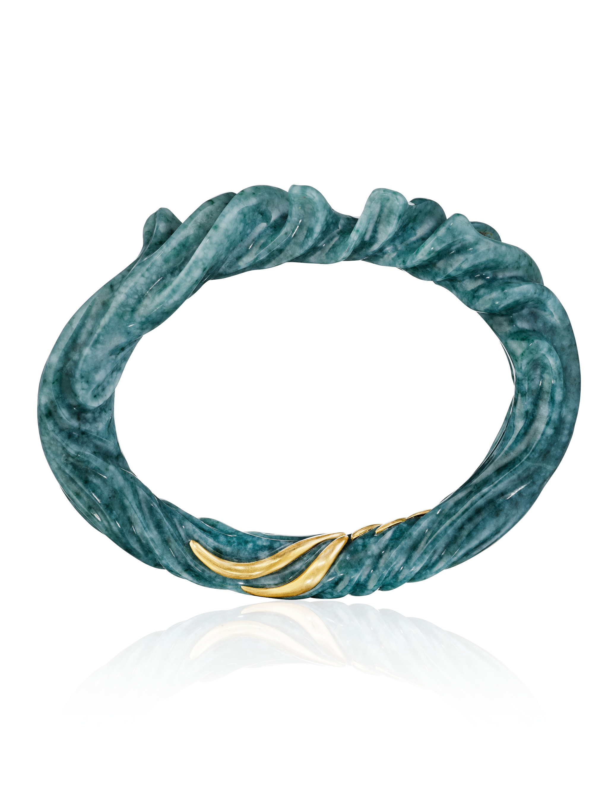 Jubilant Waves Jade Bracelet