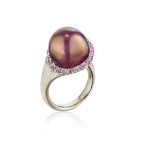 Plum Calla Lily Pearl Ring Naomi Sarna