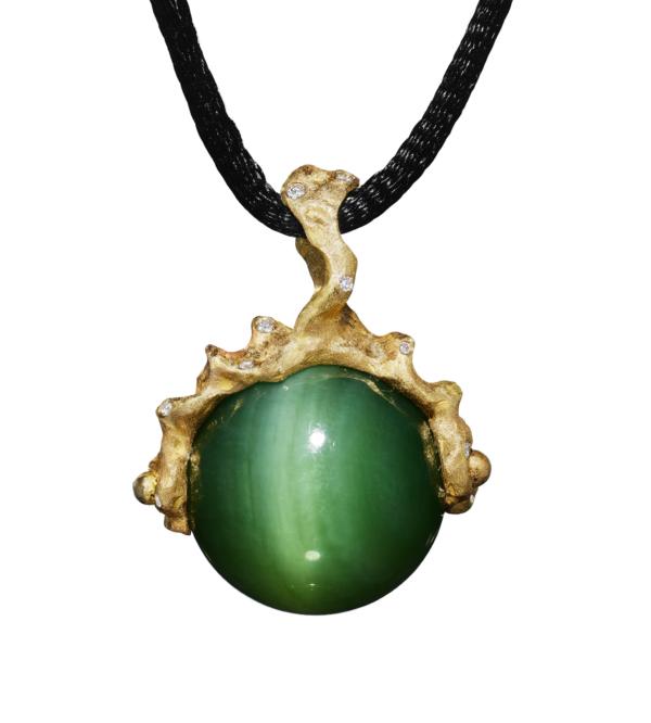 Chatoyant Jade Pendant