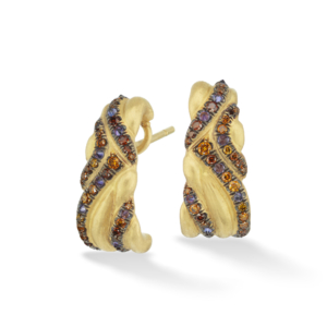 Yellow Gold Keystone Earrings