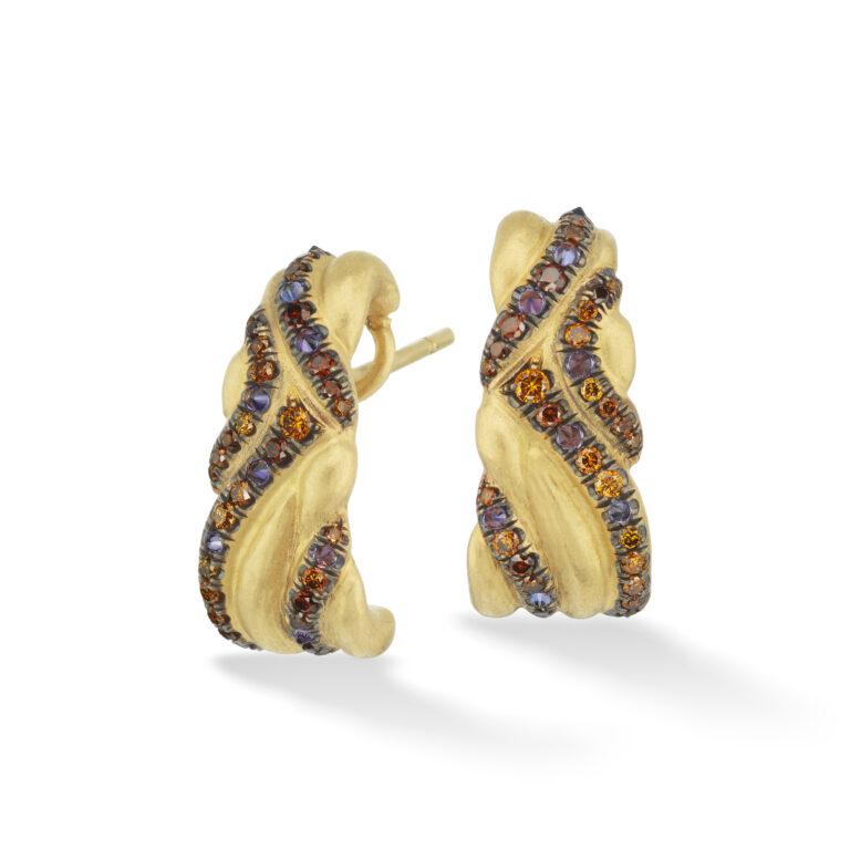 Yellow Gold Keystone Earrings