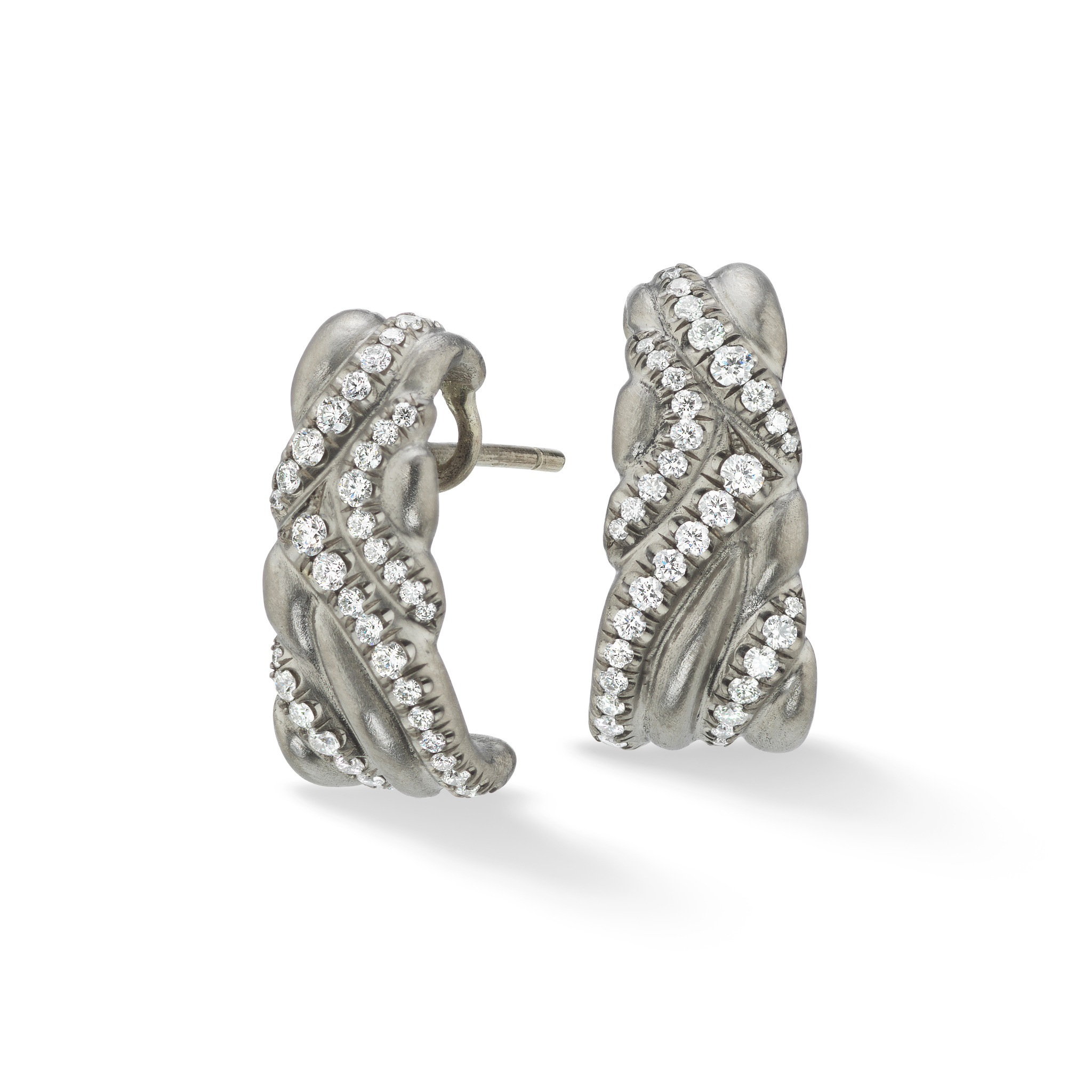 Keystone Earrings-18k White Gold - Hearts On Fire Diamonds