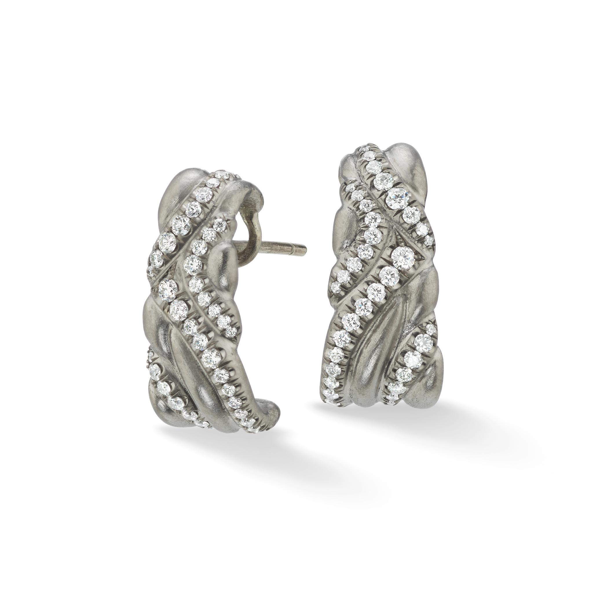 Keystone Earrings-18k White Gold - Hearts On Fire Diamonds