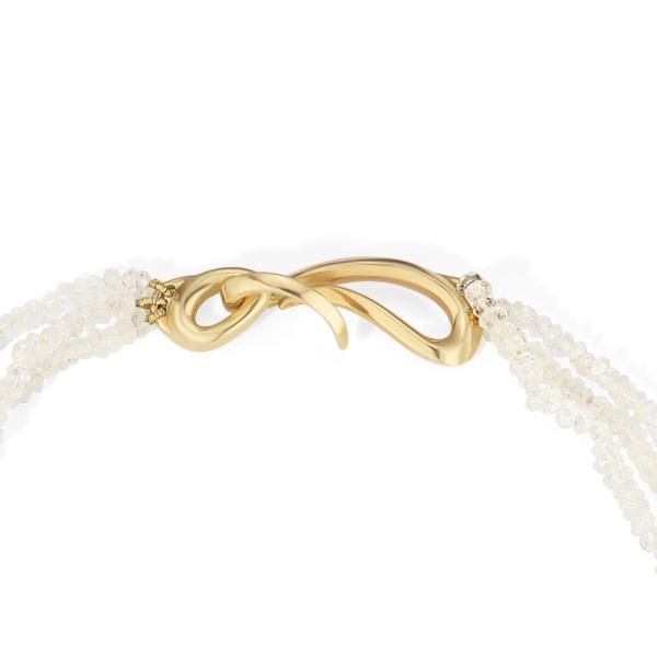 AngelHairPendant NaomiSarna CarvedRutilatedQuartz Moonstones clasp | Angel Hair Pendant