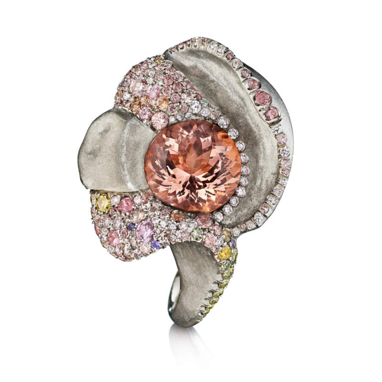 Morganite Memories White Gold and Diamond Ring