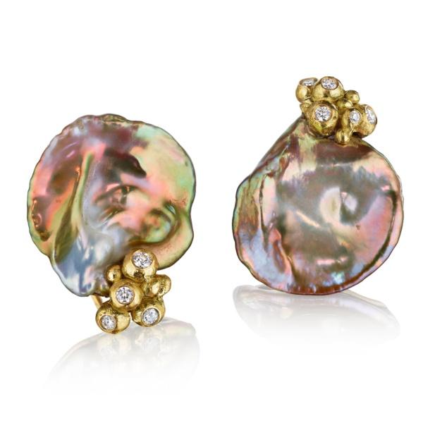 Iridescent Bubble Pearl Earrings