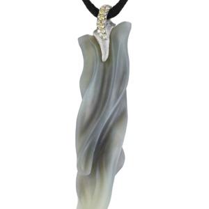Sage Jade Pendant-Diamonds-Platinum-Naomi Sarna
