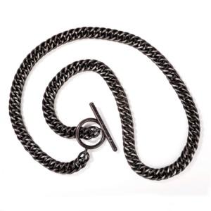 Black Diamond & Blue Jeans Necklace-Blackened Sterling Silver-Naomi Sarna