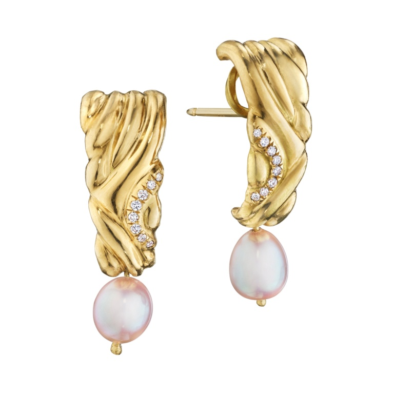 Pearl Keystone Earrings Naomi Sarna