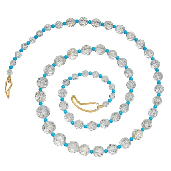 Summer Oasis-Rock Crystal-Turquoise-18KGold-Diamonds-Naomi Sarna