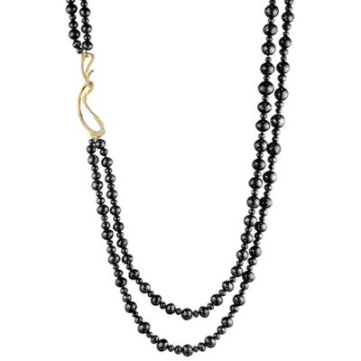 Large Double-Strand Black Diamond Necklace