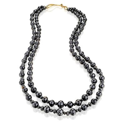 Two-Strand Black Diamond Necklace