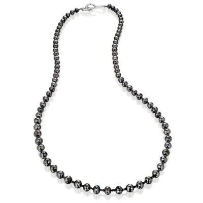 Large Single Strand Black Diamond Necklace