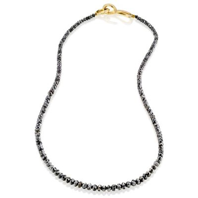 Small Single Strand Black Diamond Necklace