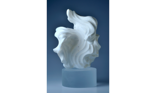 White Opal Carving Hand-carved White opal. 98 x 65 x 55 mm. 716 ct.