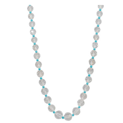 Turquoise Crystal Diamond Gold Necklace
