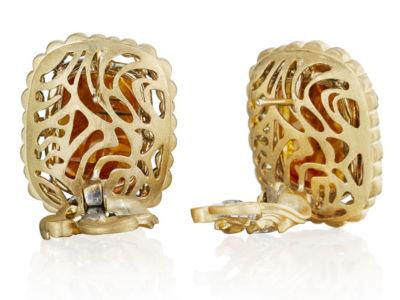 Natural Golden Brown Diamond Earrings